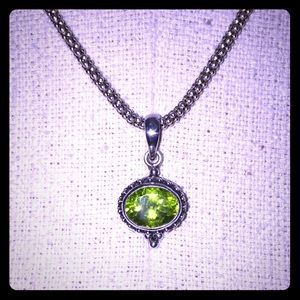 Jewelry - Sterling silver Peridot bead necklace and pendant
